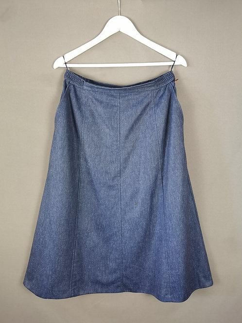 Blue Aline Skirt