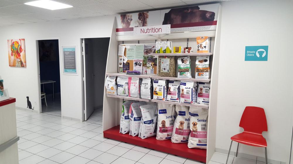 accueil point vente croquettes chien