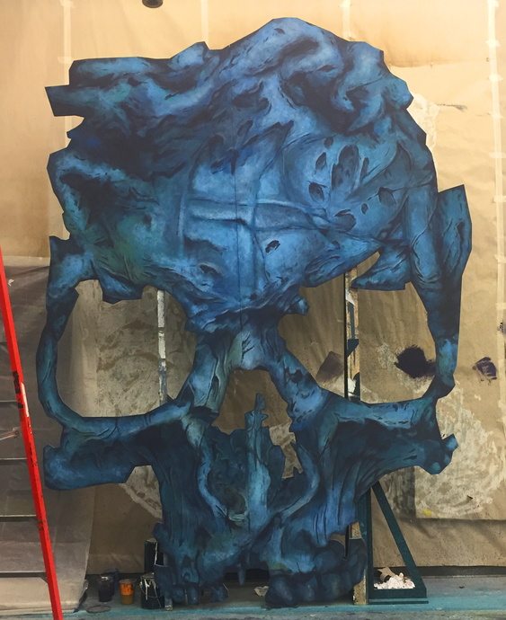 Massive Skull Painting