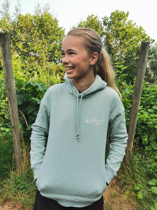 hoodie kleur 'sage'