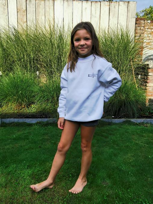 witte sweater kind zonder kap