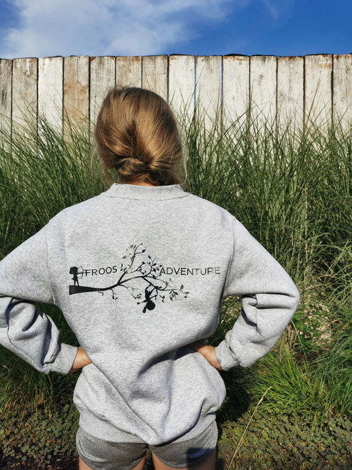 grijze sweater kind zonder kap