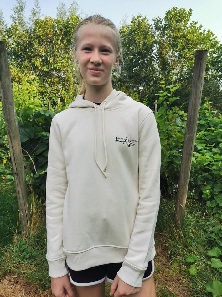hoodie 'gebroken wit'