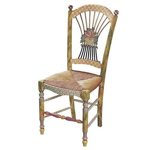 MacKenzie-Childs Light Flower Basket Side Chair