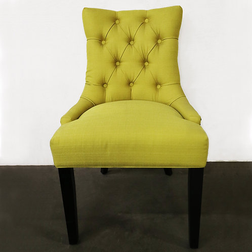Armless Lime Green Accent Chair - Tufted