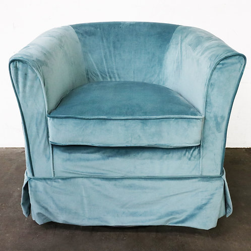 Cecilia Velvet Swivel Club Chair by Christopher Knight Home