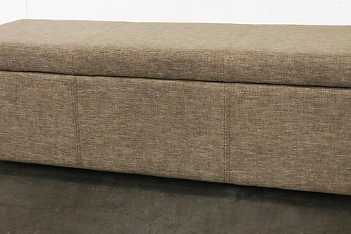 Avalon 48 in. Contemporary Storage Ottoman in Fawn Brown Linen Look Fabric