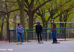 Khaleeq photo of central park skate grou