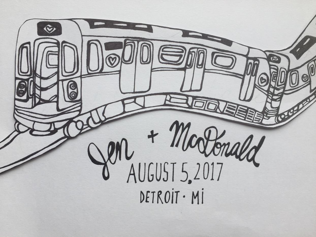 JEN & MCDONALD SAVE THE DATE
