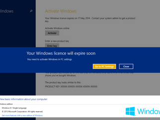 Windows 8.1 pre-installed , your windows license will expire soon?!?!