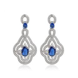Luxury-White-Gold-Plated-Blue-Ruby-Clear-font-b-Emerald-b-font-CZ-font-b-Diamond