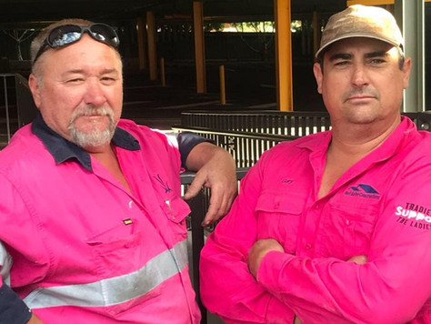 Tradies are supporting the ladies at Bull n' Bush Hotel Medowie