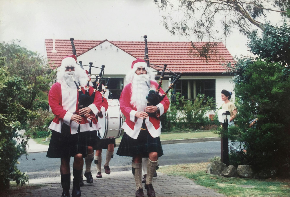 March of the Scottish Santas