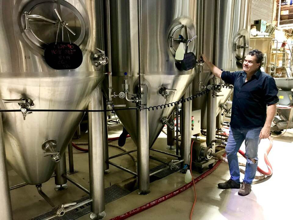 Founder Michael Hope at Hope Estate's Hope Brewhouse