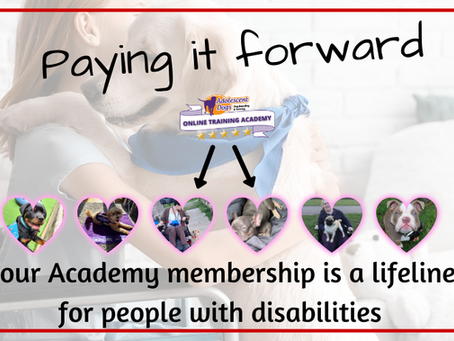 Paying it forward to help Assistance Dogs