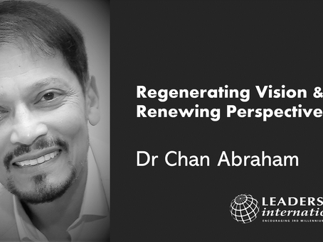 Regenerating Vision & Renewing Perspectives