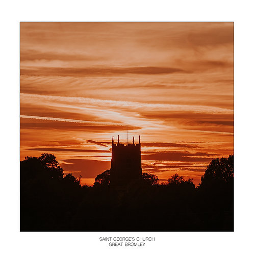 Square Photographic Greeting Card - Great Bromley Church
