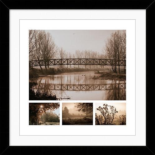 "Framed 10""x10"" Photographic Print - Millennium Bridge, Bures"