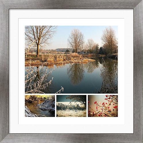 "Framed 12""x12"" Photographic Print - River Stour, Bures"