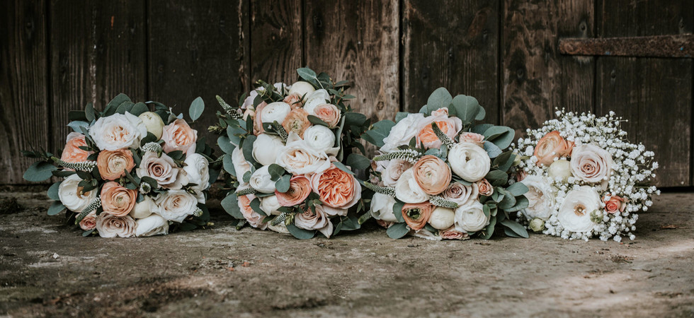 Bridal Party Wedding Bouquets EPS Photography