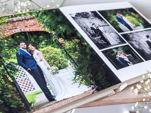 High quality edge to edge printing in a Folio Fine Art Wedding Album