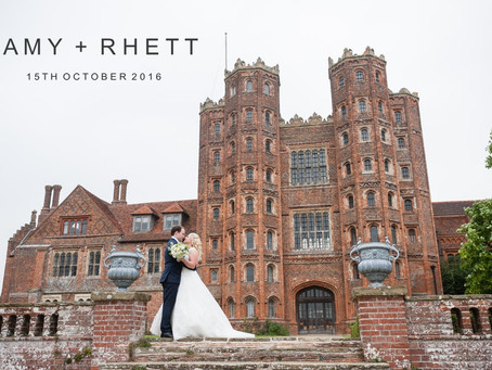 Amy & Rhett - 15th October 2016 - Layer Marney Tower