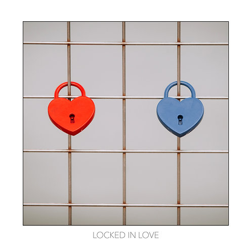 Square Photographic Greeting Card - Locked in Love