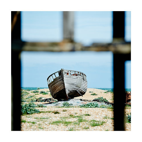 Square Photographic Greetings Card - Dungeness