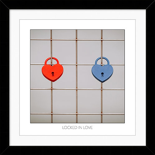 "Framed 10""x10"" Photographic Print - Locked in Love"