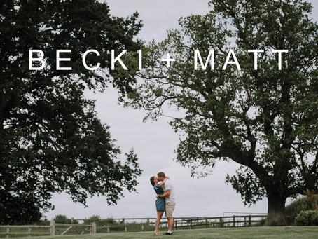 Becki & Matt's Pre-Wedding Photo Shoot