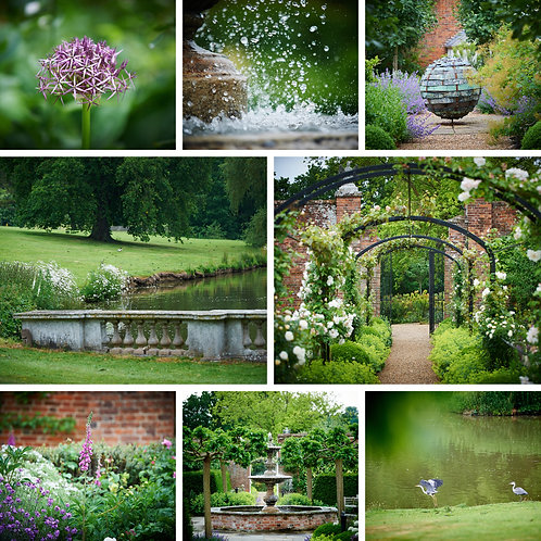 Pk of 4 Assorted Photographic Greetings Cards - Braxted Park