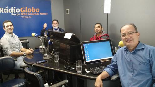 Em entrevista à Rádio Globo Recife, com Tarcísio Bocão (maio/2017)