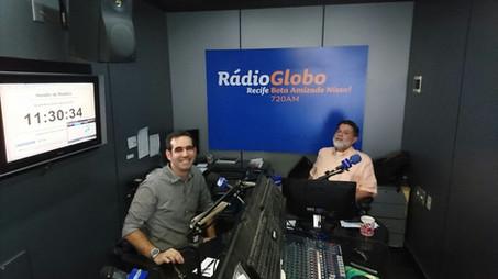 Em entrevista à Rádio Globo Recife, com Tarcísio Bocão (Março/2017)