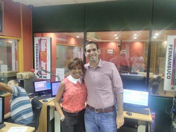 Participação no Consultório de Graça Araújo, da Rádio Jornal
