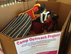 VBC campers collected toys for the Charity Sale.