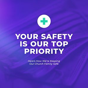 Your Safety Is Our Top Priority Purple M