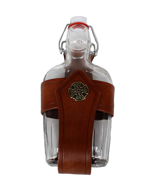 Brown Small Glass Flask