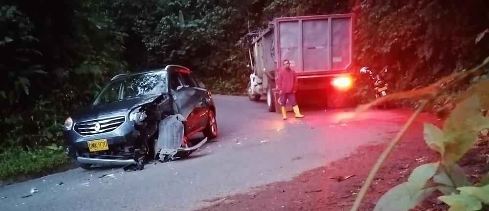Accidente en la vía Jericó - Jamaica el domingo 6 de diciembre de 2020