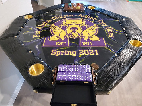 Custom Domino, Spades, Poker Table