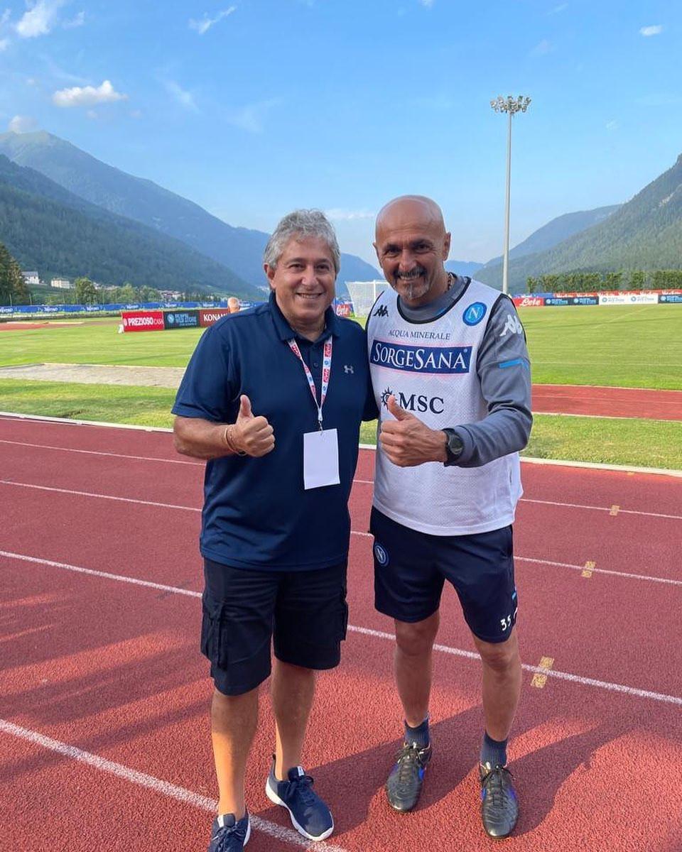 Antonio Giordano meets new coach Luciano Spalletti