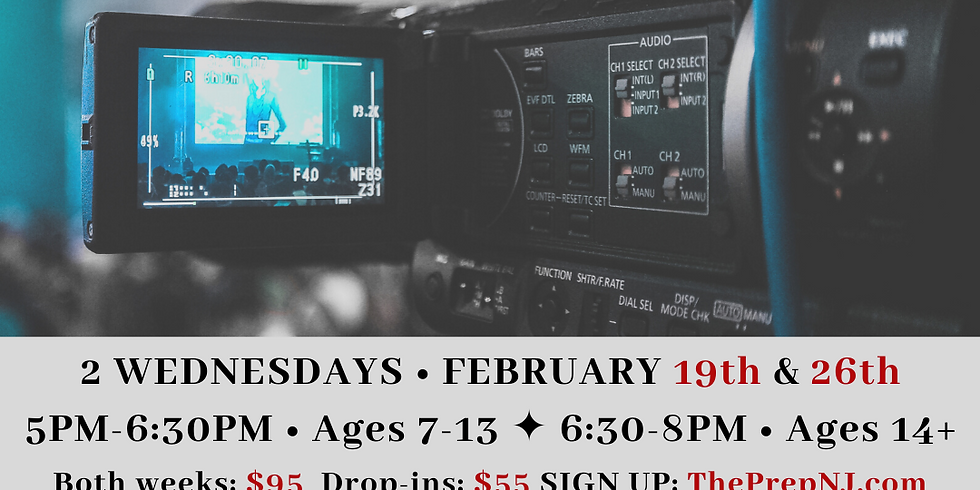 On Camera Auditions (7-13) 5-6:30pm