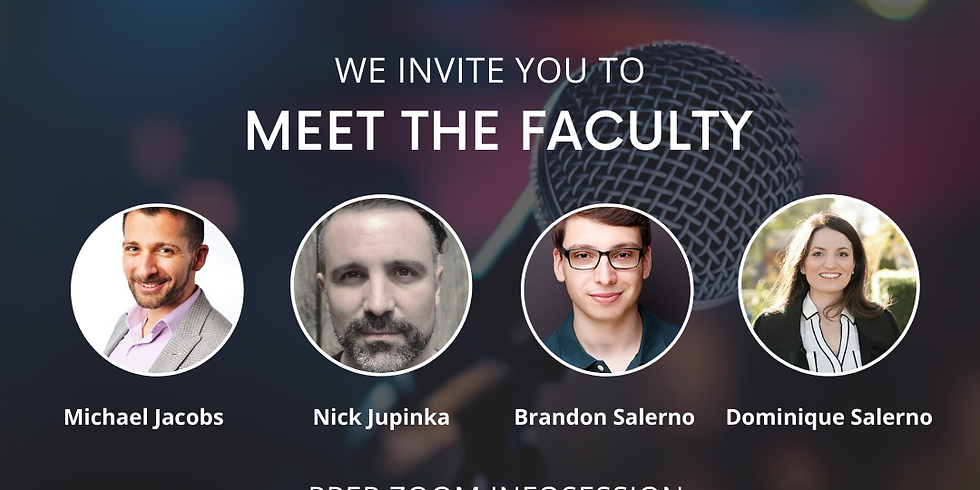 Meet the Faculty Prep InfoSession - FREE!