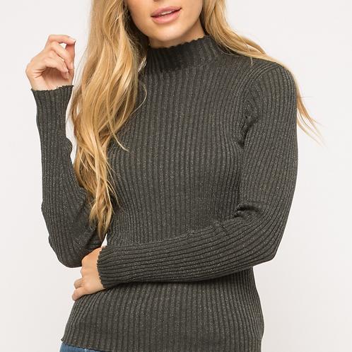 Mystree: Lurex Rib Sweater