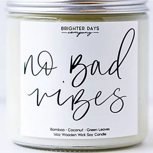 Candles: No Bad Vibes