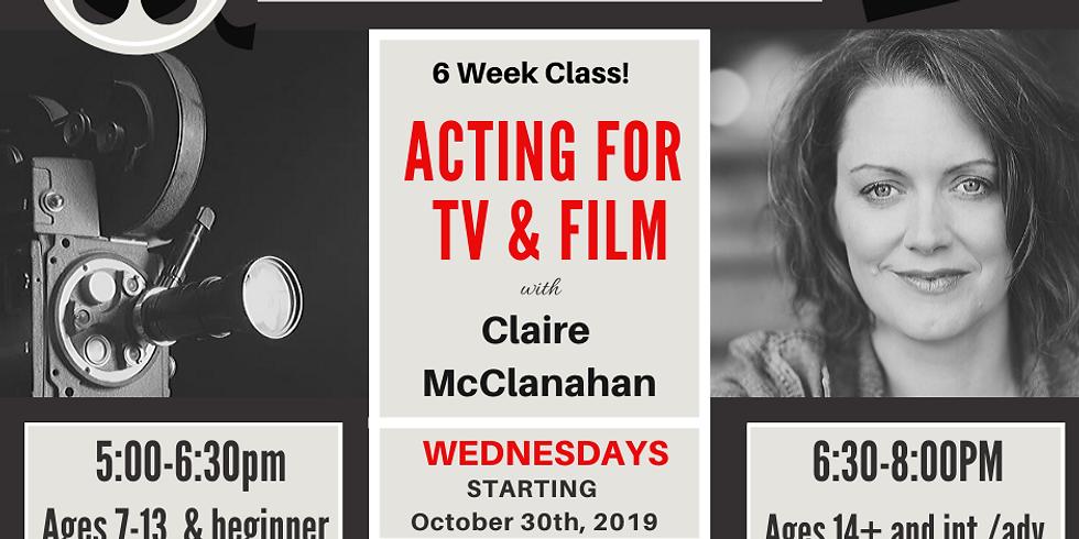 Drop in- Acting for TV & Film (7-13)