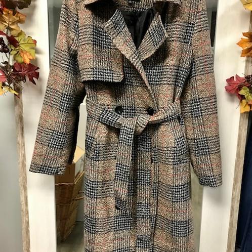 Sisters: Becca Plaid Coat
