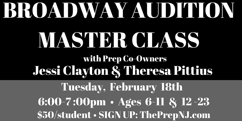 Broadway Audition Master Class