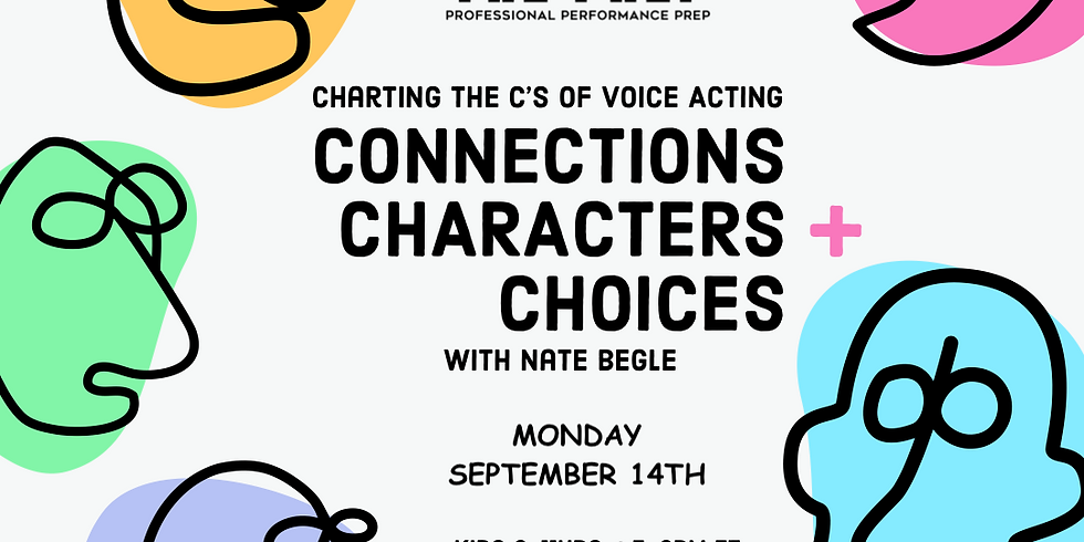 Voice Over Acting w/ Nate Begle - 4 Week Intensive 8/17-9/14