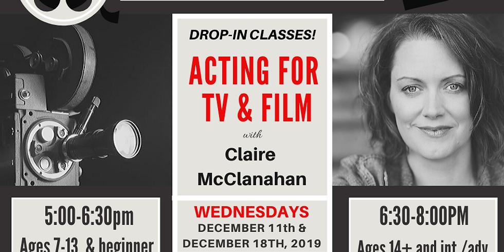DROP-IN CLASS WEDNESDAYS - Acting for TV & Film