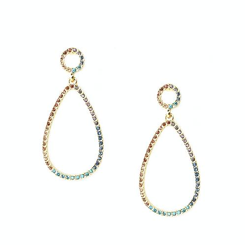 Marlyn schiff: Open Teardrop Earrings